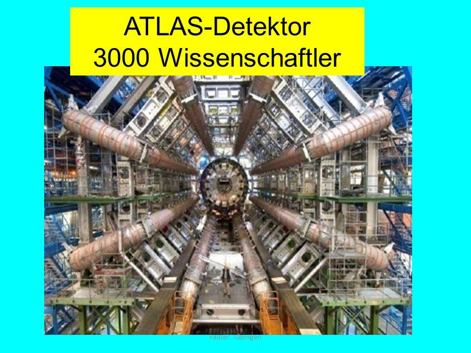 ATLAS-Detektor 3000 Wissenschaftler Fäßler, Tübingen