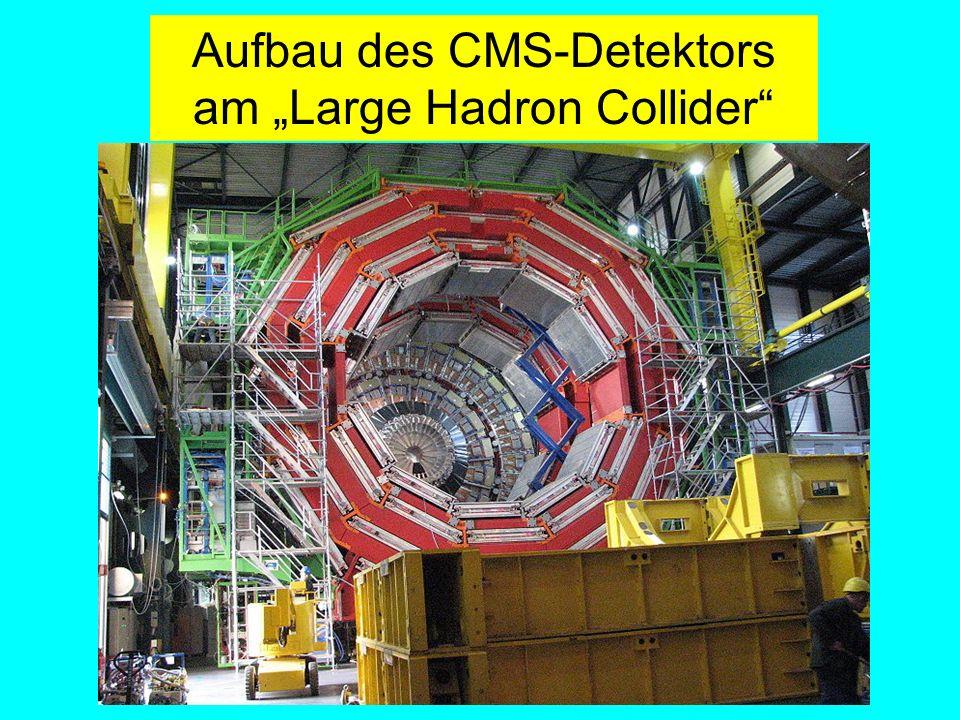 """Aufbau des CMS-Detektors am """"Large Hadron Collider"""