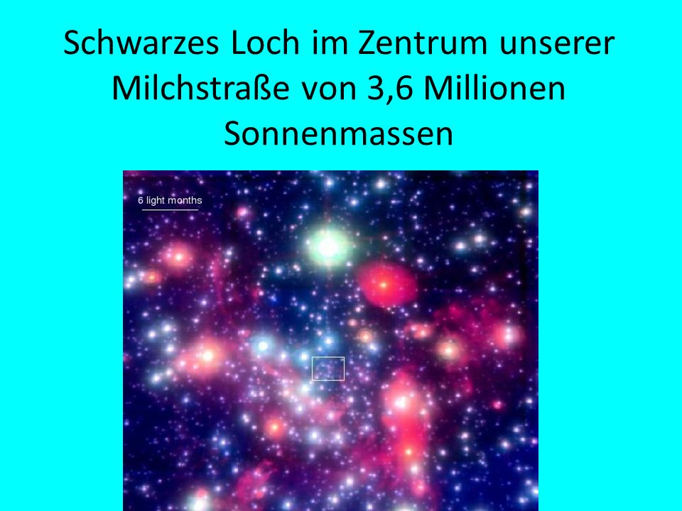 Schwarzes Loch im Zentrum unserer Milchstraße von 3,6 Millionen Sonnenmassen