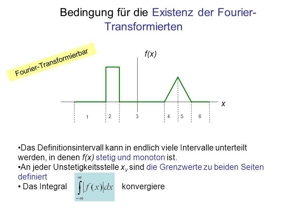 Bedingung für die Existenz der Fourier-Transformierten