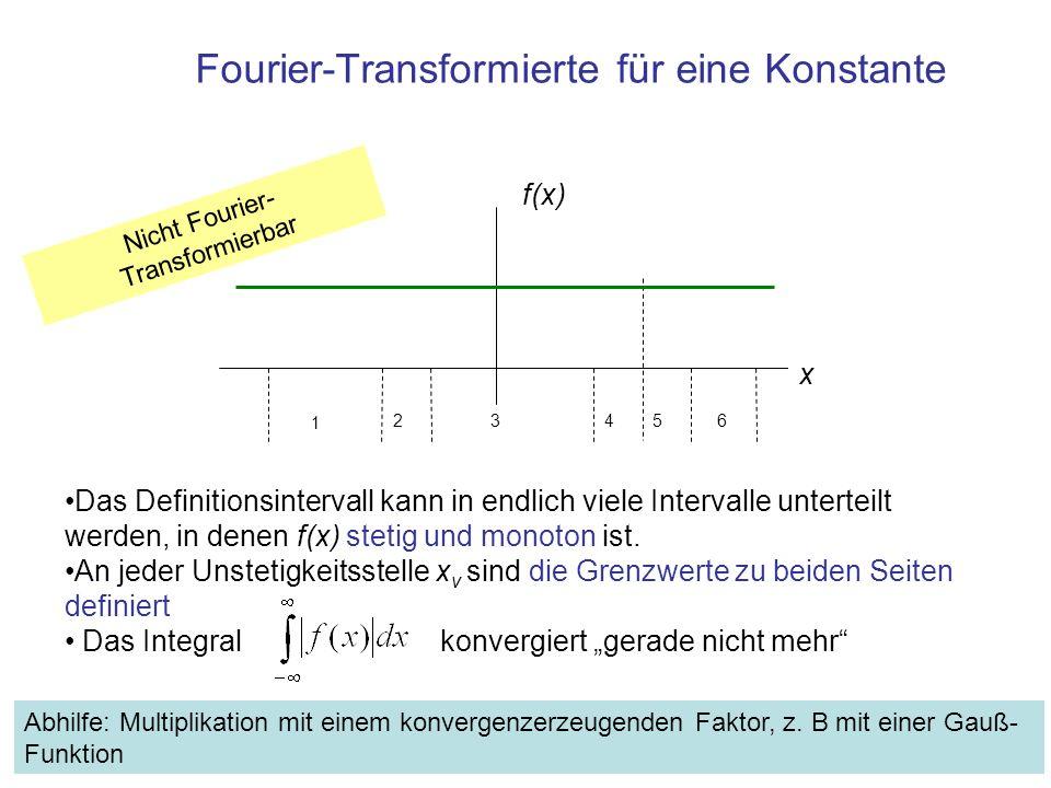 Fourier-Transformierte für eine Konstante