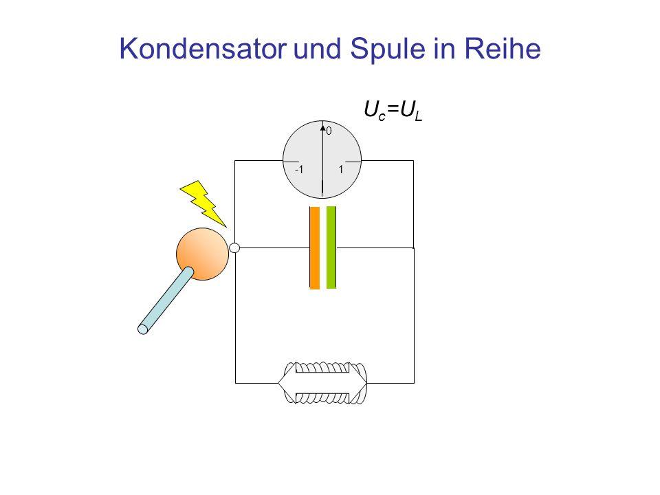 Kondensator und Spule in Reihe