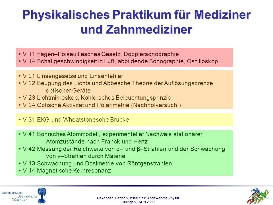 Physikalisches Praktikum für Mediziner und Zahnmediziner