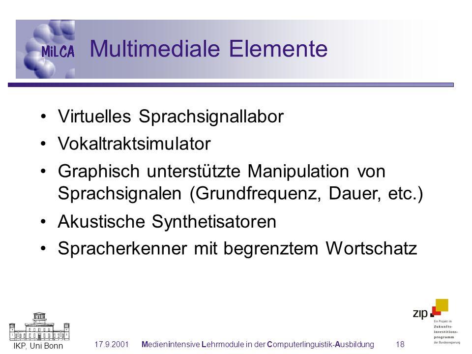 Multimediale Elemente