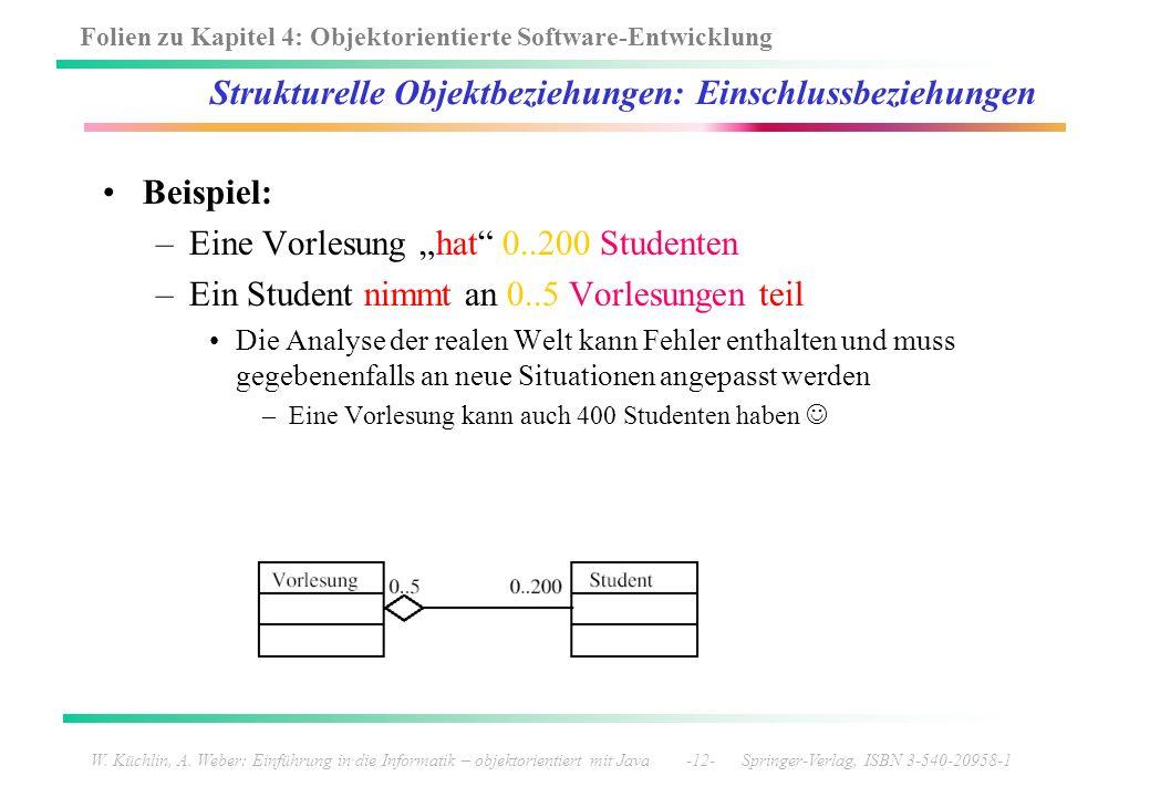 Strukturelle Objektbeziehungen: Einschlussbeziehungen