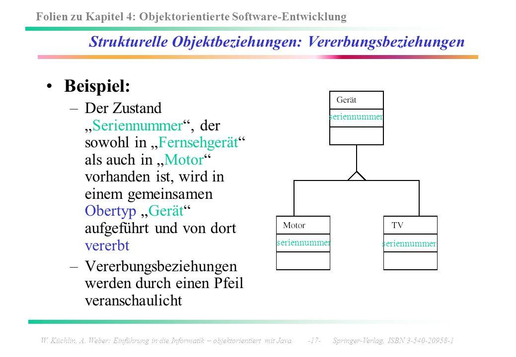 Strukturelle Objektbeziehungen: Vererbungsbeziehungen