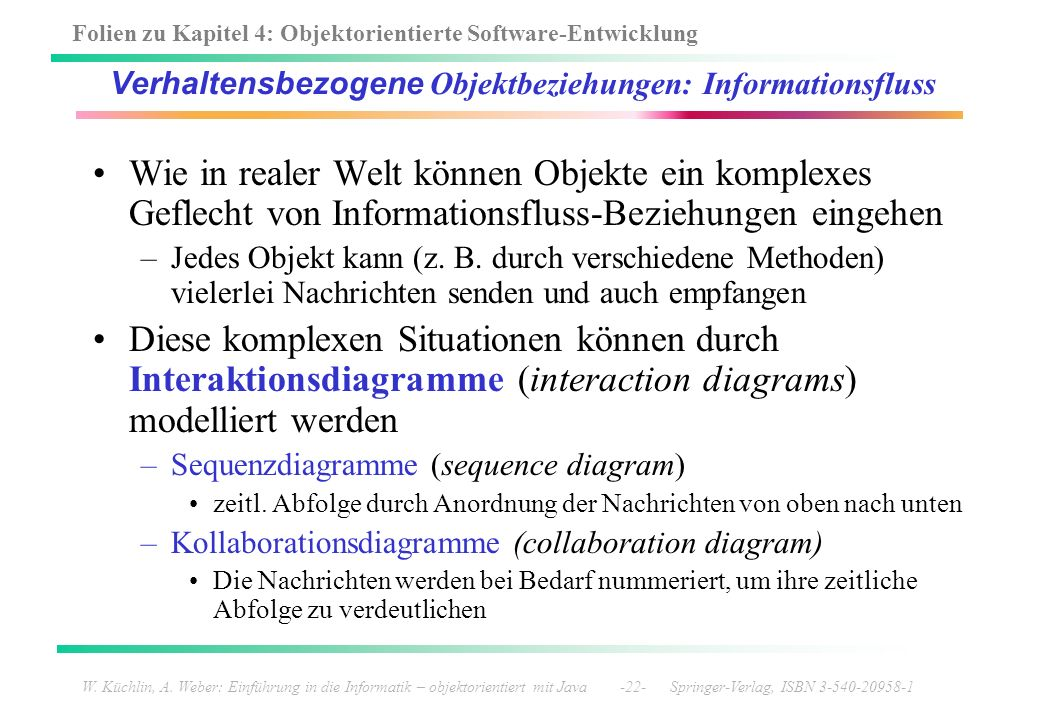 Verhaltensbezogene Objektbeziehungen: Informationsfluss