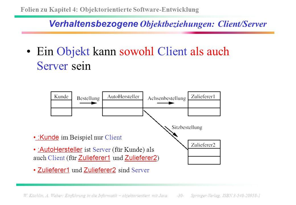 Verhaltensbezogene Objektbeziehungen: Client/Server