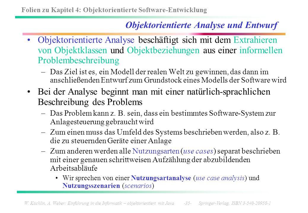 Objektorientierte Analyse und Entwurf