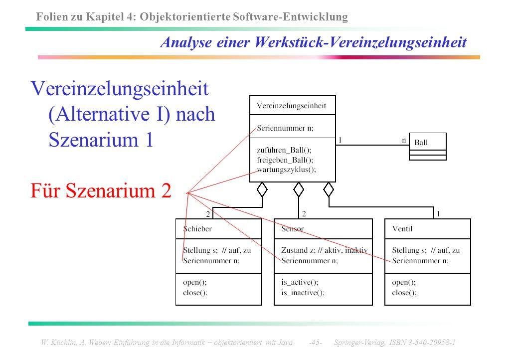 Analyse einer Werkstück-Vereinzelungseinheit