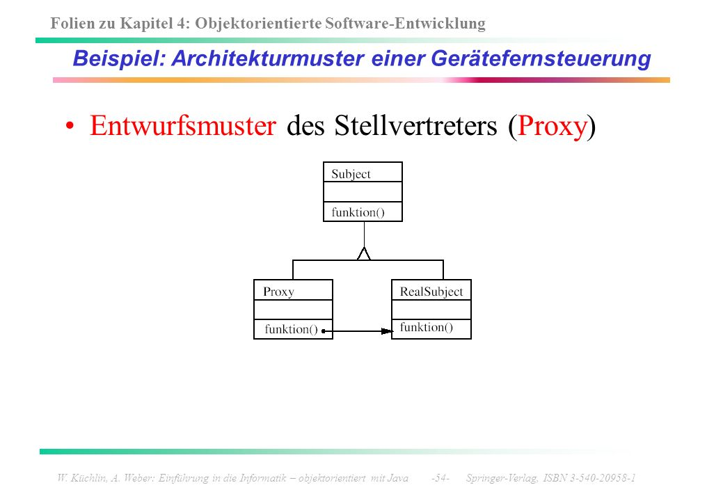 Beispiel: Architekturmuster einer Gerätefernsteuerung