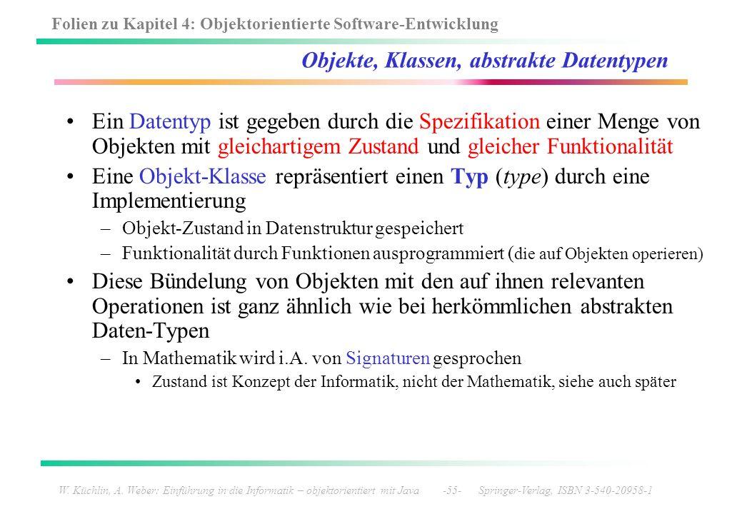 Objekte, Klassen, abstrakte Datentypen