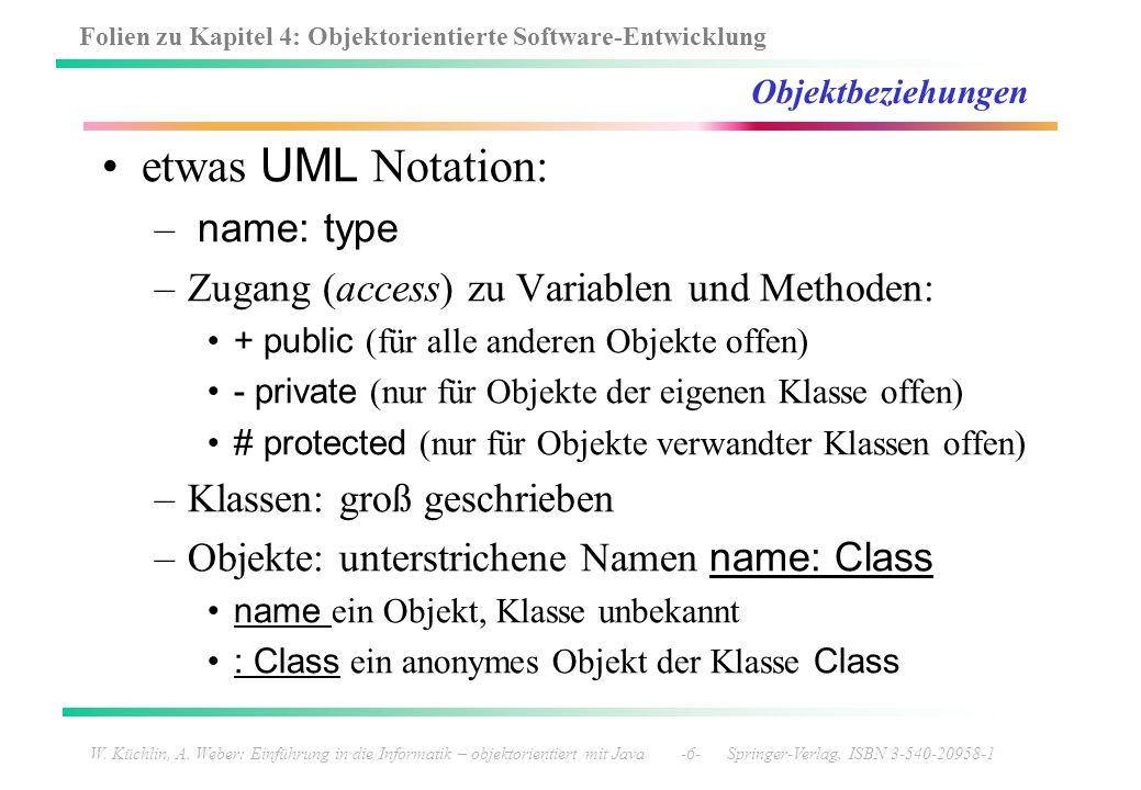 etwas UML Notation: name: type