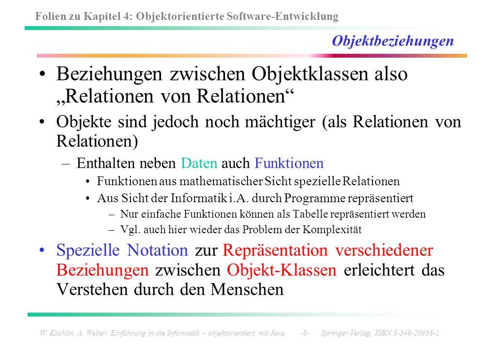 """Beziehungen zwischen Objektklassen also """"Relationen von Relationen"""