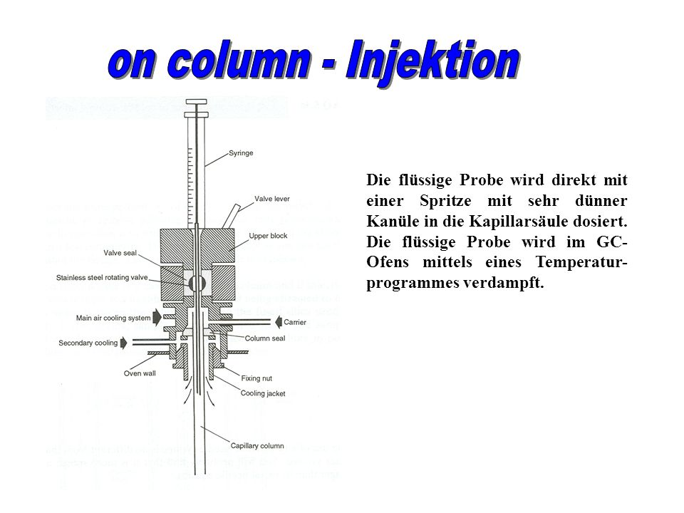 on column - Injektion