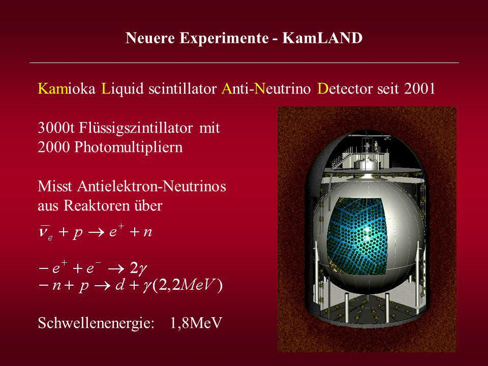 Neuere Experimente - KamLAND _______________________________________________________________