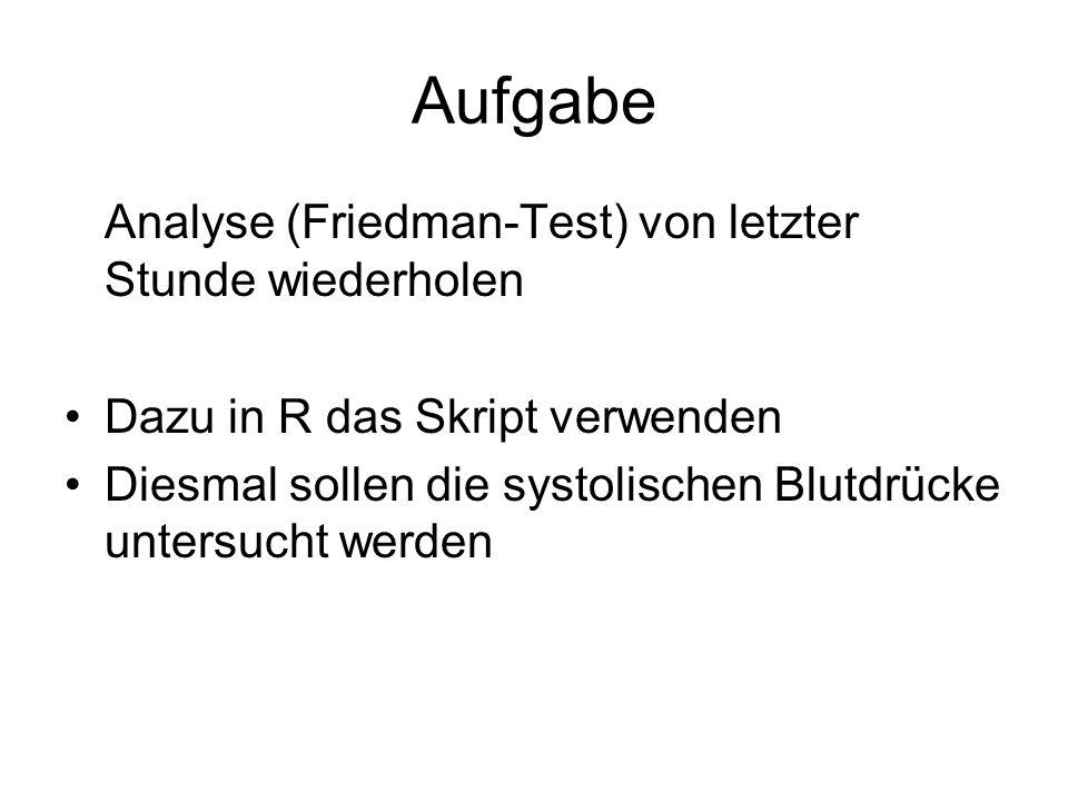 Aufgabe Analyse (Friedman-Test) von letzter Stunde wiederholen