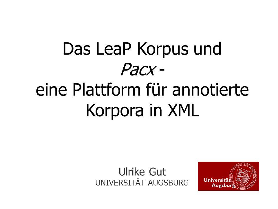 eine Plattform für annotierte Korpora in XML