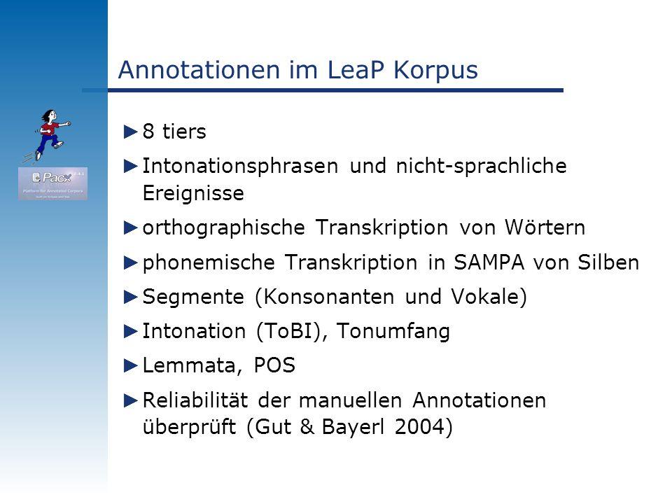 Annotationen im LeaP Korpus