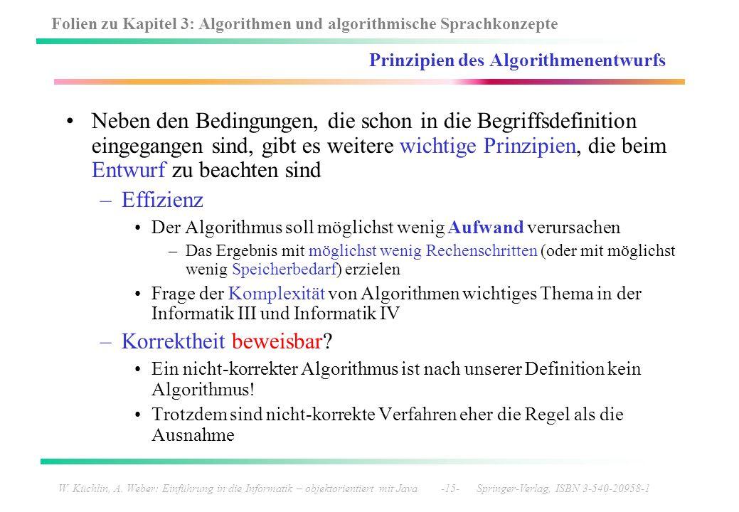 Prinzipien des Algorithmenentwurfs