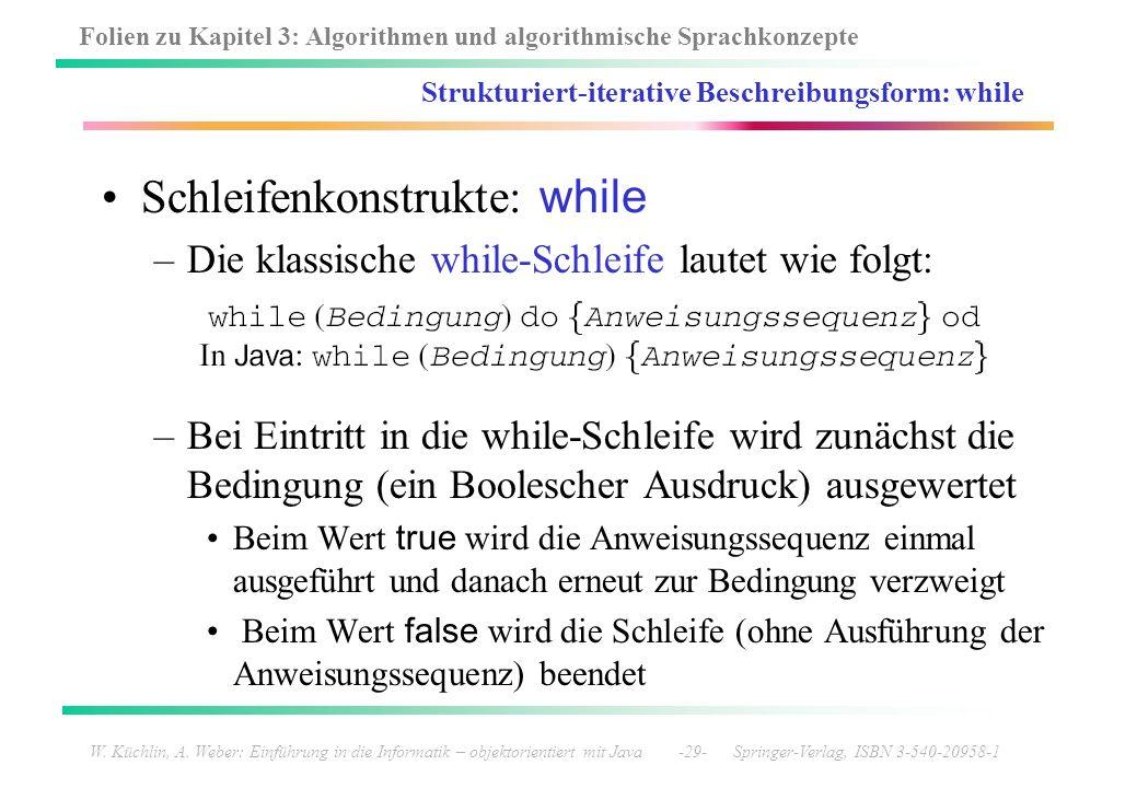 Strukturiert-iterative Beschreibungsform: while