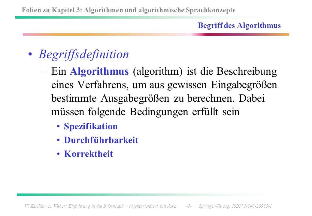 Begriff des Algorithmus