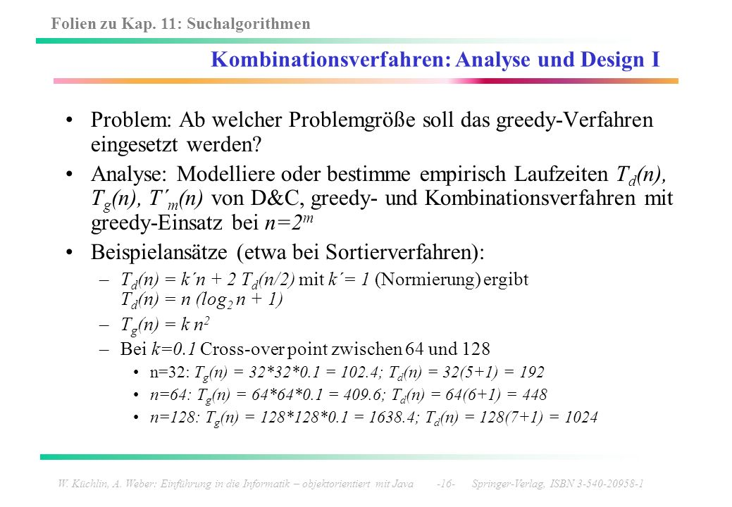 Kombinationsverfahren: Analyse und Design I