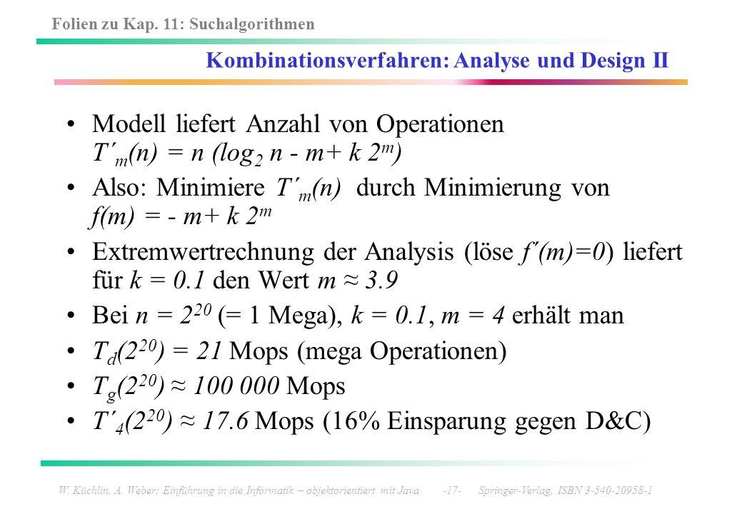 Kombinationsverfahren: Analyse und Design II