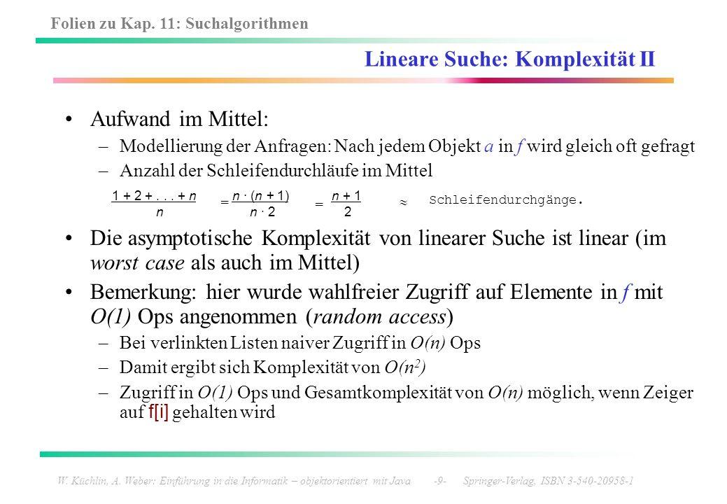 Lineare Suche: Komplexität II