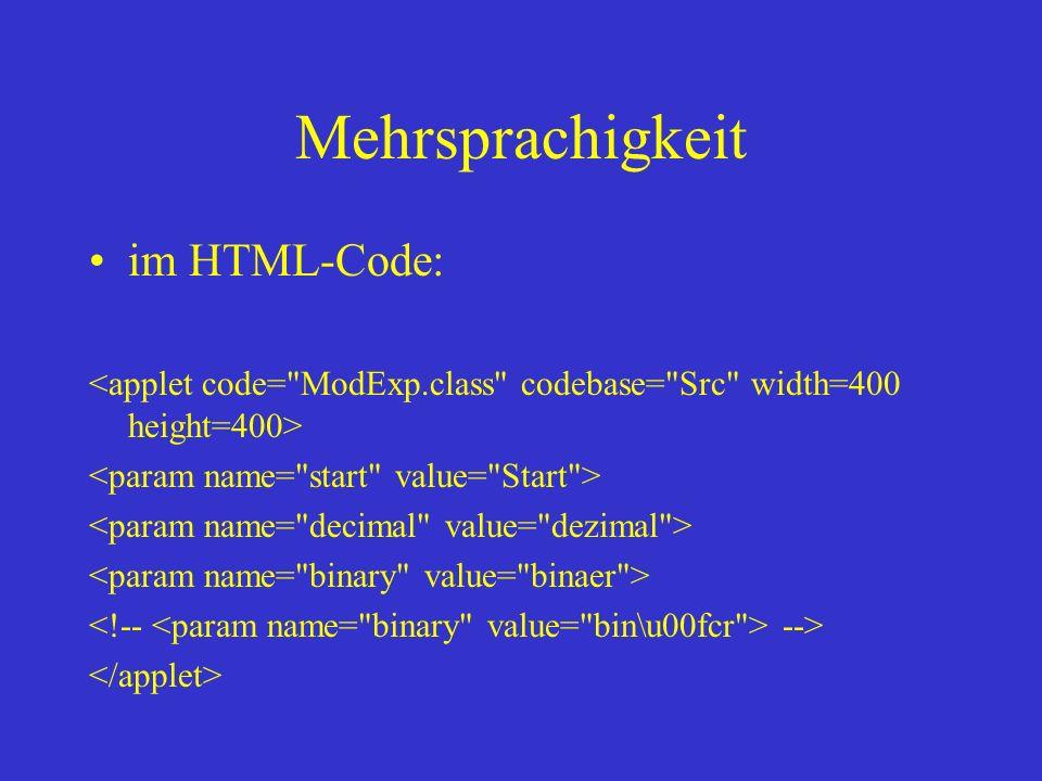Mehrsprachigkeit im HTML-Code: