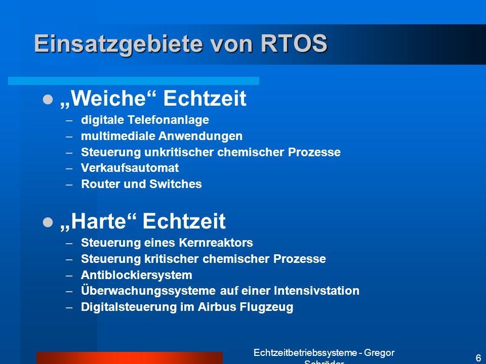 Einsatzgebiete von RTOS