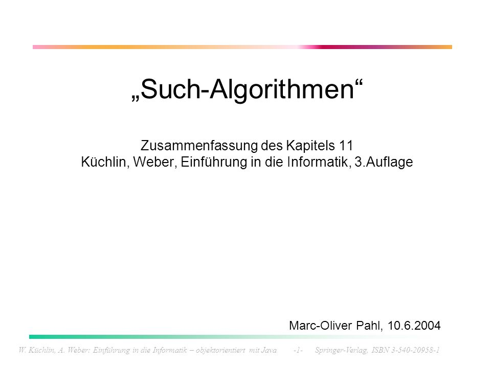 """""""Such-Algorithmen Zusammenfassung des Kapitels 11"""