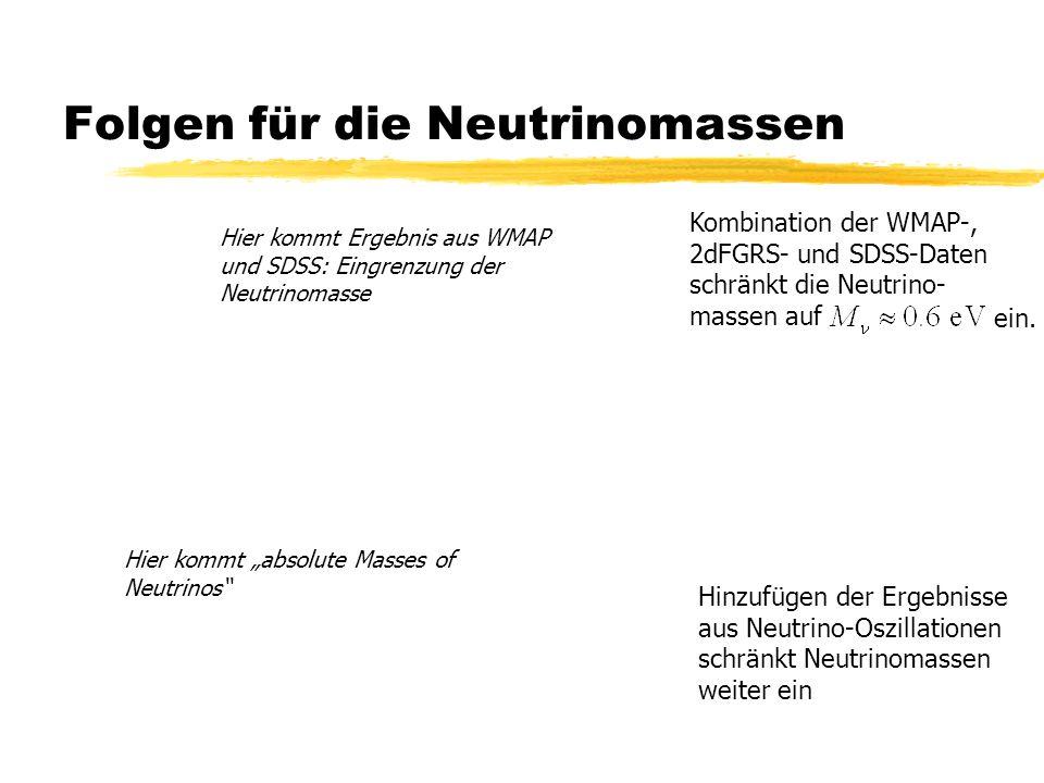 Folgen für die Neutrinomassen