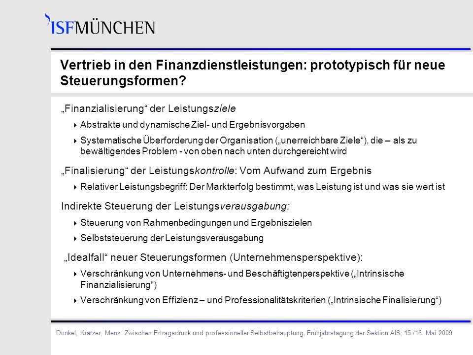 Vertrieb in den Finanzdienstleistungen: prototypisch für neue Steuerungsformen