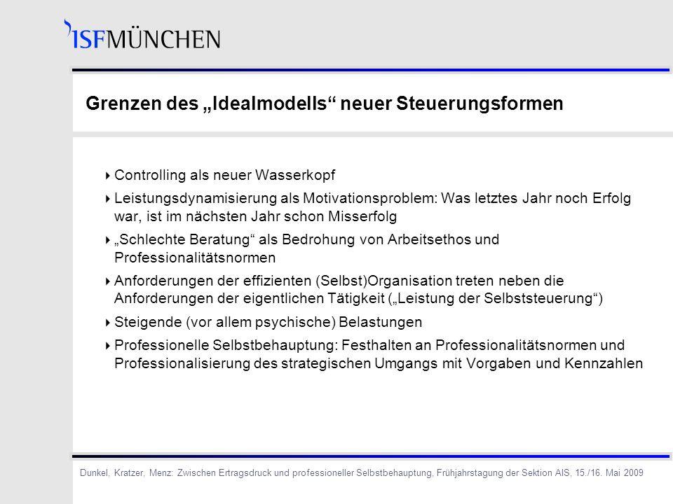"""Grenzen des """"Idealmodells neuer Steuerungsformen"""