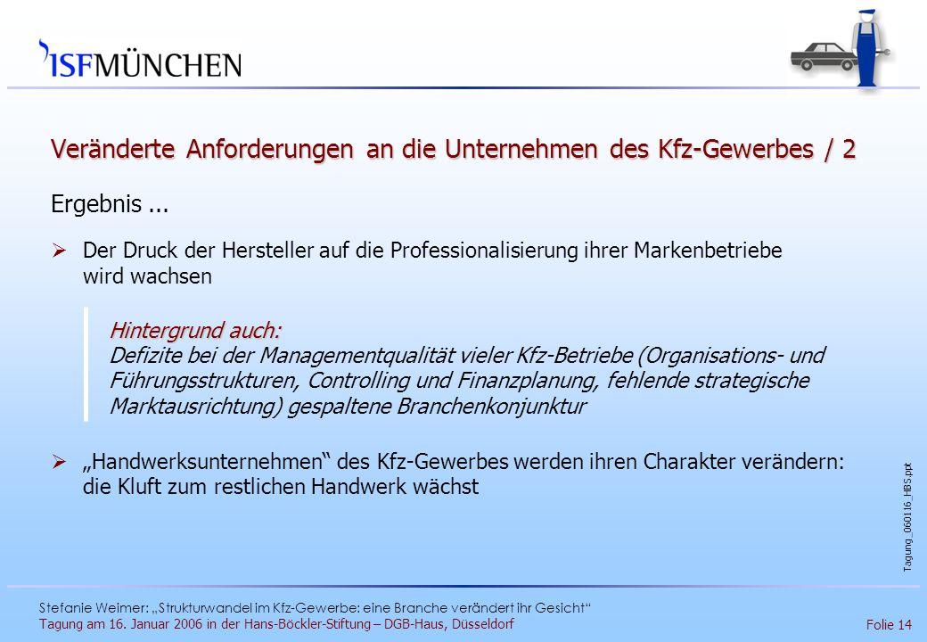 Veränderte Anforderungen an die Unternehmen des Kfz-Gewerbes / 2