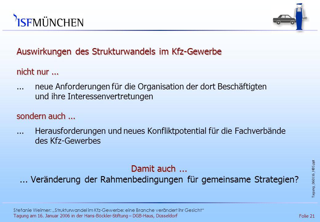 ... Veränderung der Rahmenbedingungen für gemeinsame Strategien