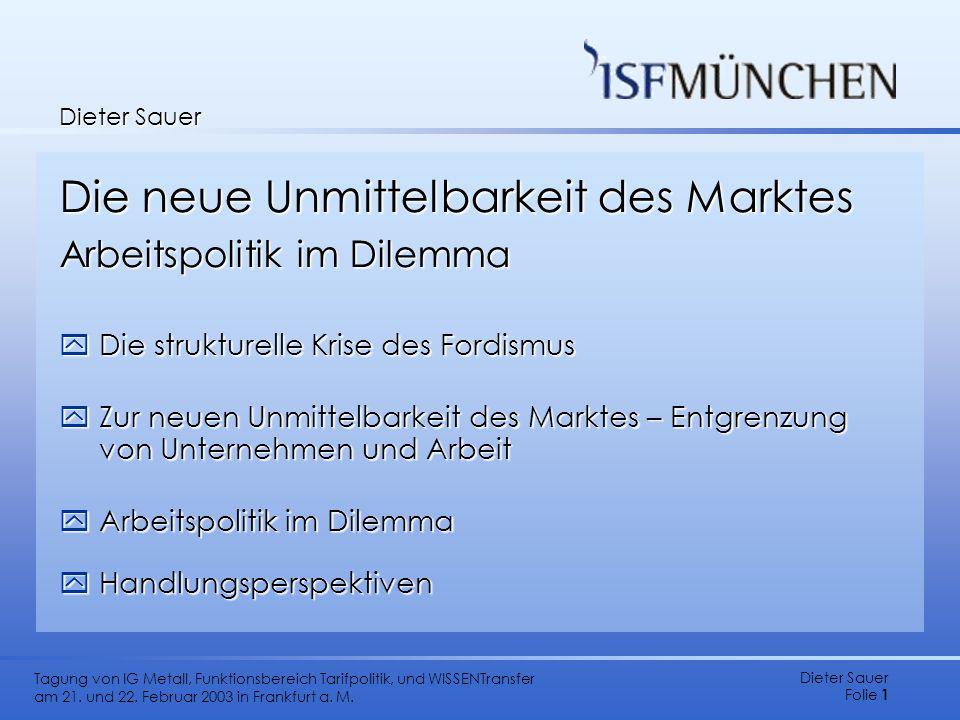 Die neue Unmittelbarkeit des Marktes