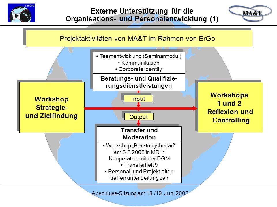 Beratungs- und Qualifizie- rungsdienstleistungen
