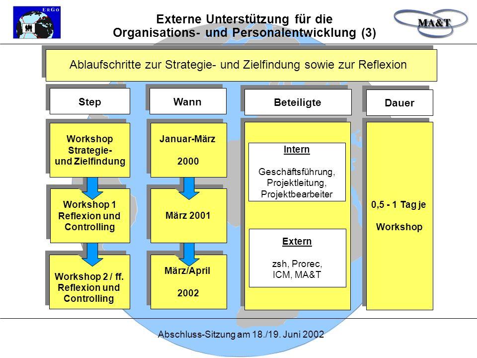 Externe Unterstützung für die Organisations- und Personalentwicklung (3)