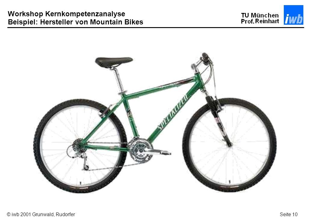 Workshop Kernkompetenzanalyse Beispiel: Hersteller von Mountain Bikes