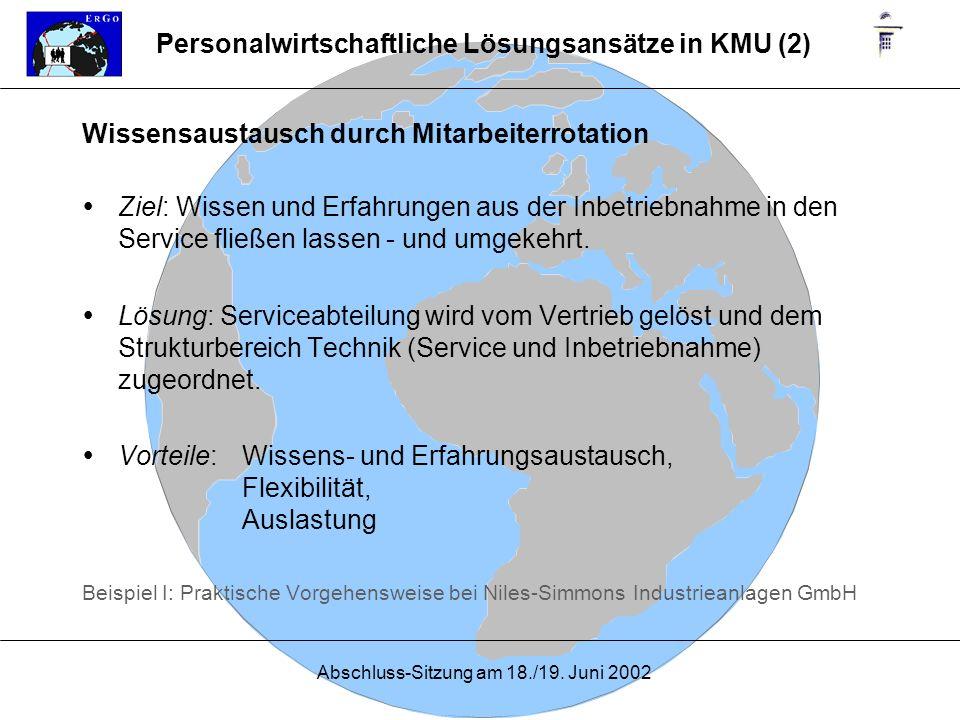 Personalwirtschaftliche Lösungsansätze in KMU (2)