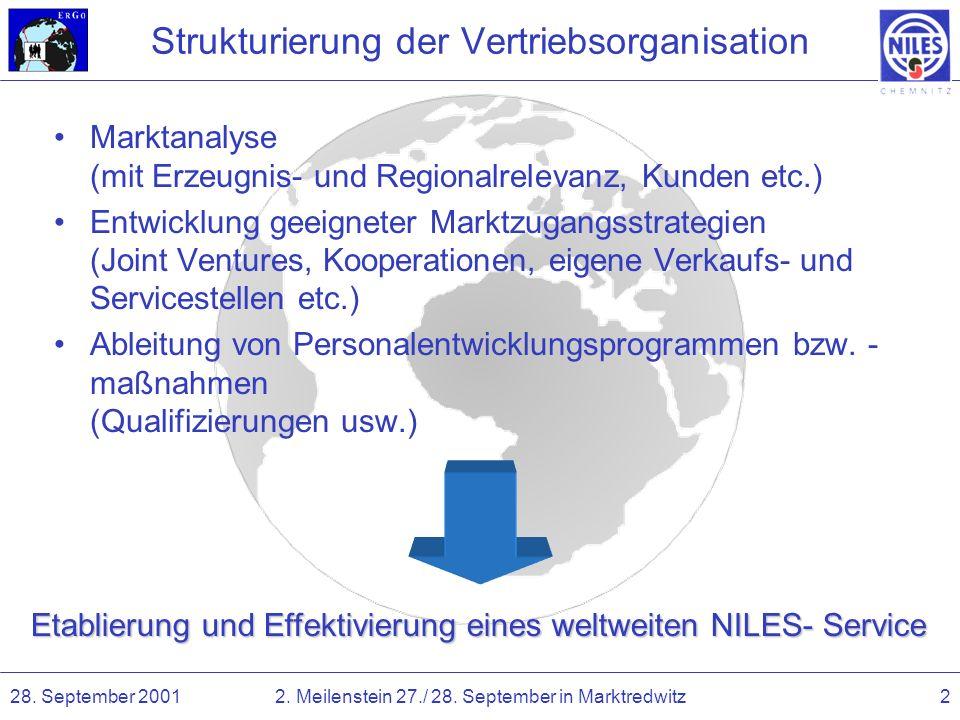 Strukturierung der Vertriebsorganisation