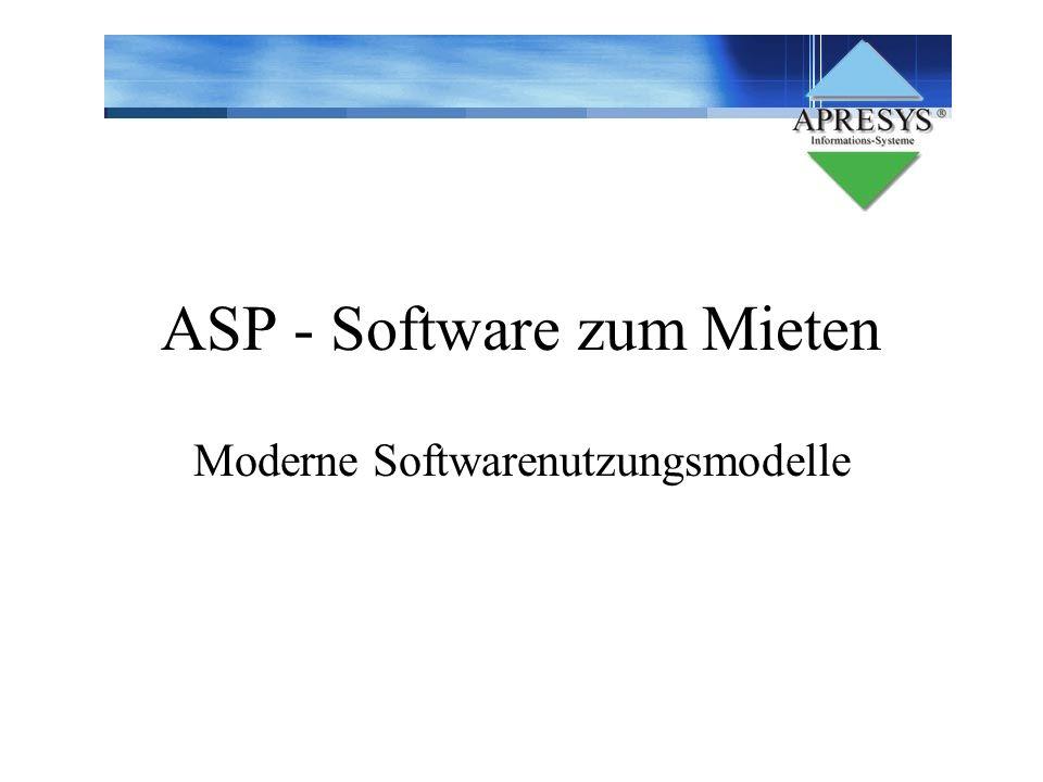 ASP - Software zum Mieten