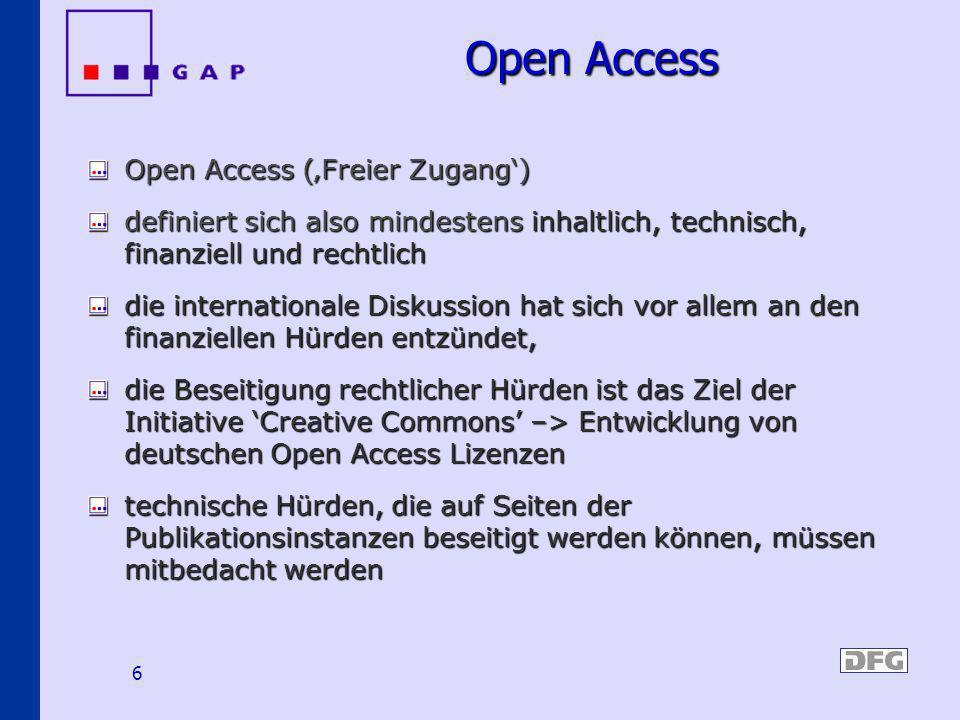 Open Access Open Access ('Freier Zugang')
