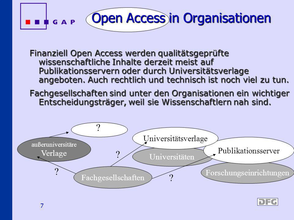 Open Access in Organisationen