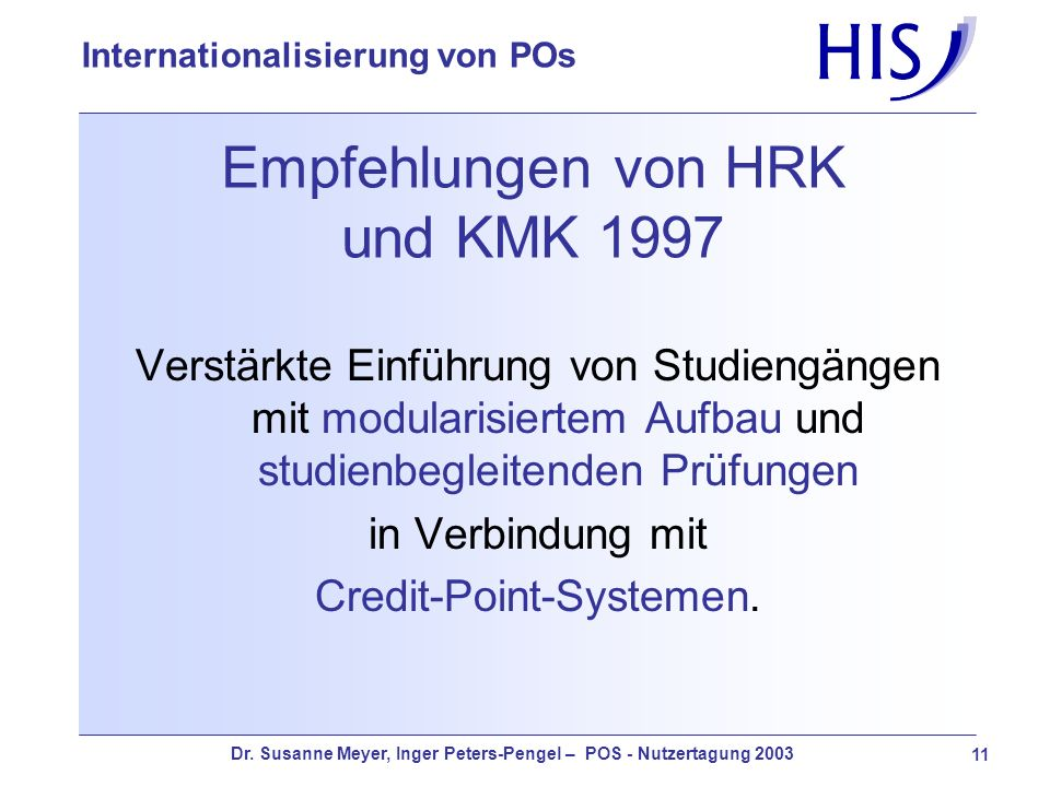 Empfehlungen von HRK und KMK 1997