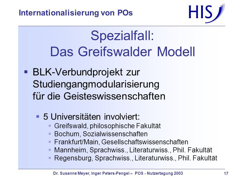 Spezialfall: Das Greifswalder Modell