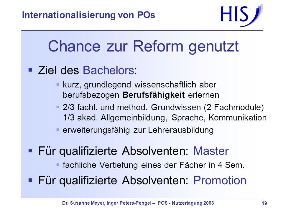 Chance zur Reform genutzt