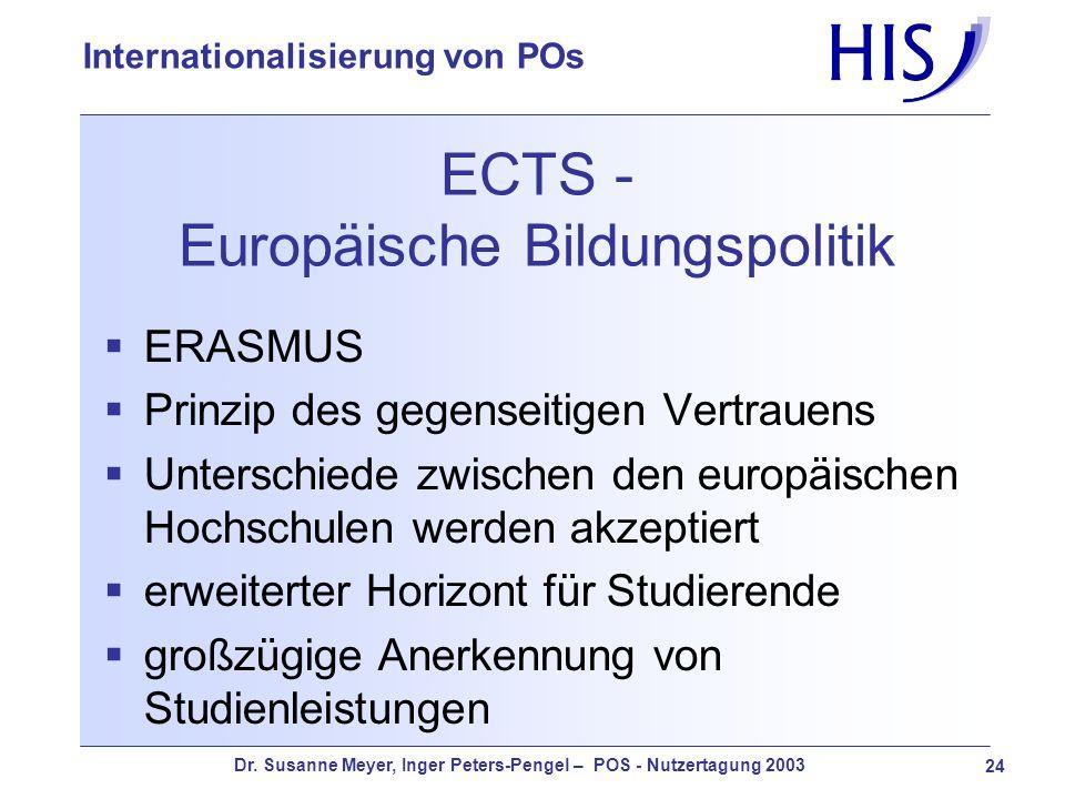 ECTS - Europäische Bildungspolitik